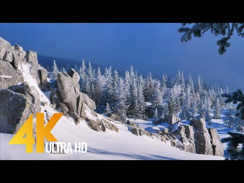 4K Aerial Footage - Bird's Eye View of Iremel Mountain, Russia - 1 Hour Drone Film with Music
