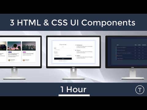 3 HTML & CSS UI Components in 1 Hour
