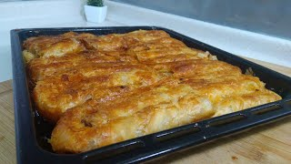 Oklavasız Çıtır Çıtır El Açma Kol Böreği/Seval Mutfakta