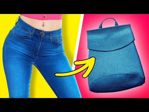 REUSE YOUR OLD JEANS || 30 WAYS TO REUSE OLD CLOTHES