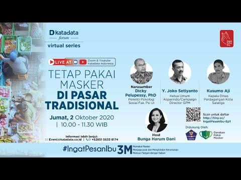 "Katadata Forum Virtual Series ""Tetap Pakai Masker di Pasar Tradisional"""