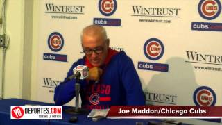 Joe Maddon Cubs vs. Cincinnati Reds Game 2