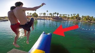 SUPER BLOB LAUNCH FAIL! *LITTLE KID LAUNCHED 50 FEET HIGH!!*