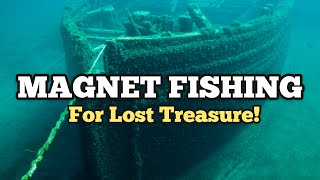 FOUND SHIPWRECK Magnet Fishing For Sunken Treasure In Lake Erie / Magnet Fishing Best Finds Ever