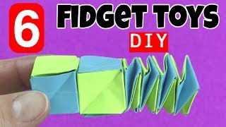 NEW! 6 EASY DIY FIDGET TOYS - DIY TOYS FOR KIDS TO MAKE USING HOUSEHOLD ITEMS- STRESS RELIEVERS-DIYS