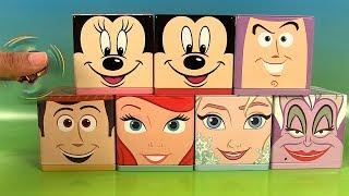 Surprises Fidget Hand Spinners dans des Boîtes Cubeez Mickey Mouse Minnie Reine des Neiges