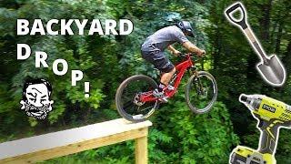 Backyard North Shore MTB Drop - Building and Riding