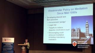 Mediation Developments in England - Professor Dame Hazel Genn CBE, QC (Hons)