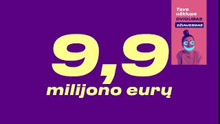 L akcija - kas savaitę 10-imt po 500 Eurų - Aukso puode 9,9 mln. Eurų