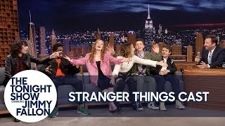 The Stranger Things Cast Teaches Jimmy the ″Chicken Noodle Soup″ Song