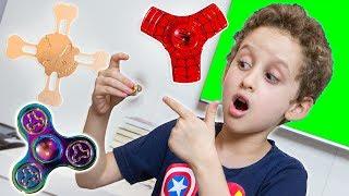 Em Busca de FIDGET SPINNERS RAROS p/ Crianças - Fidget Spinners Rare Metal for Kids