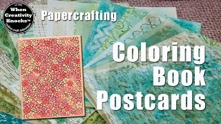 Coloring Book Postcards