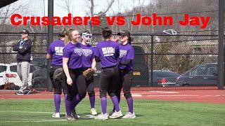 Varsity Softball Monroe Woodbury High School vs John Jay scrimmage at the Rock