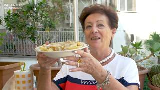 Pasta Grannies discover ziti with stewed onions and beef from Naples!