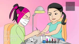 Anjelah Johnson ″Nail Salon″ Animated Cartoon