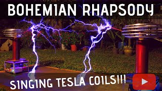 Bohemian Rhapsody by Queen Meets Singing Tesla Coils