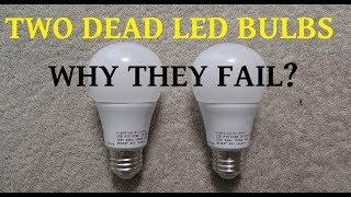 Two failed LED bulbs for teardown to determine the cause