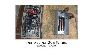 How to Install an Electric Sub Panel and Tie-In to Adjacent Main Panel from Start to Finish