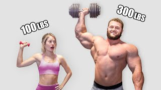 Can a 100lb girl survive a BODYBUILDER WORKOUT??