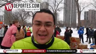 De Mexico a Chicago para celebrar el 2016 corriendo en el frio y la nieve