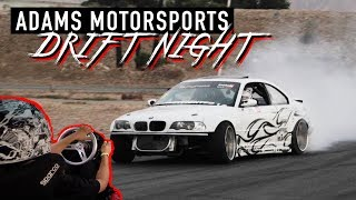 SO MUCH ANGLE IN THE BMW E46 x Adams Drift Night