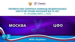 Хоккейный матч. 20.11.19. «Москва» - «ЦФО»