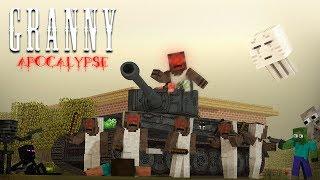 Monster School: GRANNY ZOMBIE APOCALYPSE CHALLENGE - Minecraft Animation