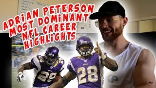 Rugby Player Reacts to ADRIAN PETERSON Most Dominant NFL Career Highlights !