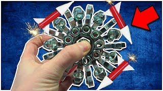1000 MPH FIDGET SPINNER THAT FLIES!!! Rocket Flying Fidget Spinner