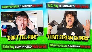I Stream Sniped FaZe Jarvis on a SECRET Account until he RAGE QUIT FORTNITE