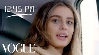 Taylor Hill's Entire Day of Modeling | Vogue