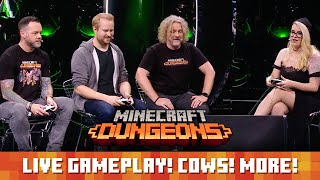 Minecraft Dungeons live demo! Release month! Cows!
