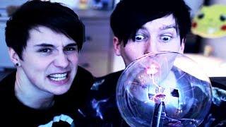 Kissing a Plasma Ball!