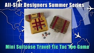 Mini Suitcase Travel Tic Tac Toe Game