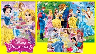 Disney Princess Jigsaw Puzzle Play for kids Learning Activity