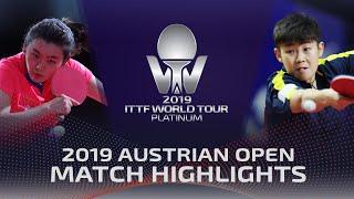 Liu Fei vs Lin Ye | 2019 ITTF Austrian Open Highlights (Pre)