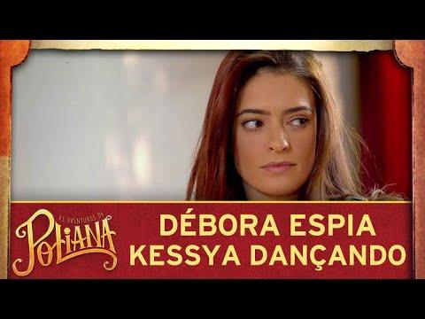 As Aventuras de Poliana | Débora fica observando escondida Kessya dançar