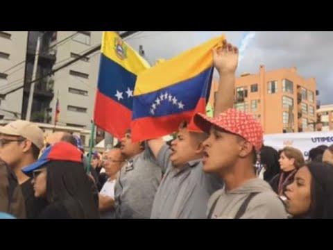 Manifestaciones en América por la posesión de Nicolás Maduro en Venezuela