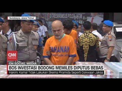 Bos Investasi Bodong Memiles Diputus Bebas