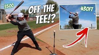 Using a $500 Bat to Hit 430FT HOME RUNS off a TEE!?