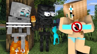 Monster School : Wither Skeleton VS Skeleton and Cute Girl`s Life - minecraft