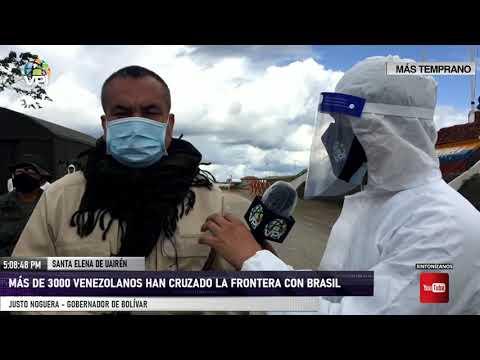 Bolívar -  Más de 3.000 venezolanos han cruzado la frontera con Brasil - VPItv