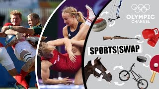 Wrestling vs Rugby 7s - Can They Switch Sports?   Sports Swap Challenge