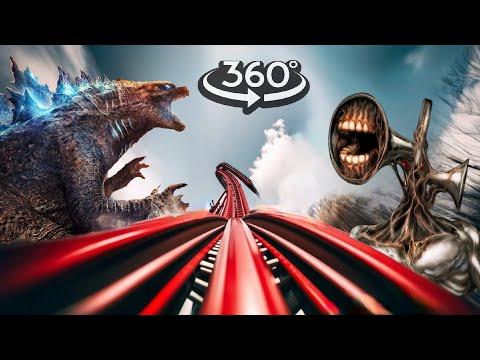360 Video | Siren Head VR Roller Coaster Theme Park Part 2