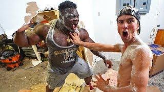 Bodybuilder destroys our house! Ft. Blessing Awodibu