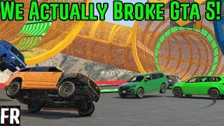 We Actually Break Gta 5 With A Silly Race!