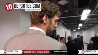 Pau Gasol se despidió de Chicago Bulls