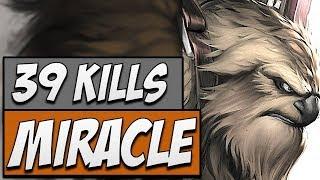 MIRACLE DOTA - Miracle Earthshaker - 39 KILLS | Road to Dota 2 2018