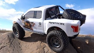 FORD RAPTOR F150 (Stock) on the Rocks - 8th scale Trail Truck ″Traction Hobby″   RC ADVENTURES