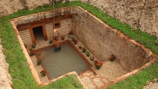 Dig to build Most Awesome Underground House and Underground Swimming Pool